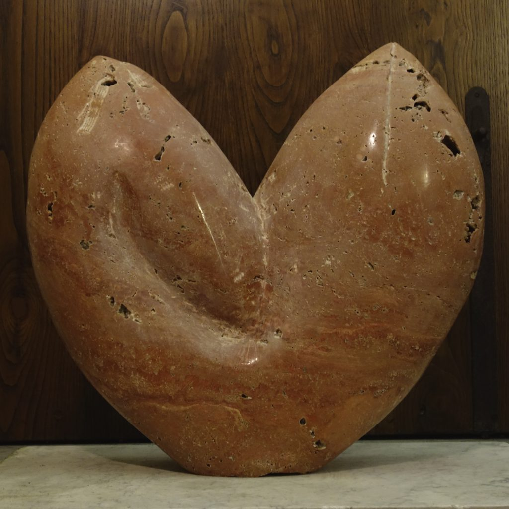Sculpture Red Travertine Marble
