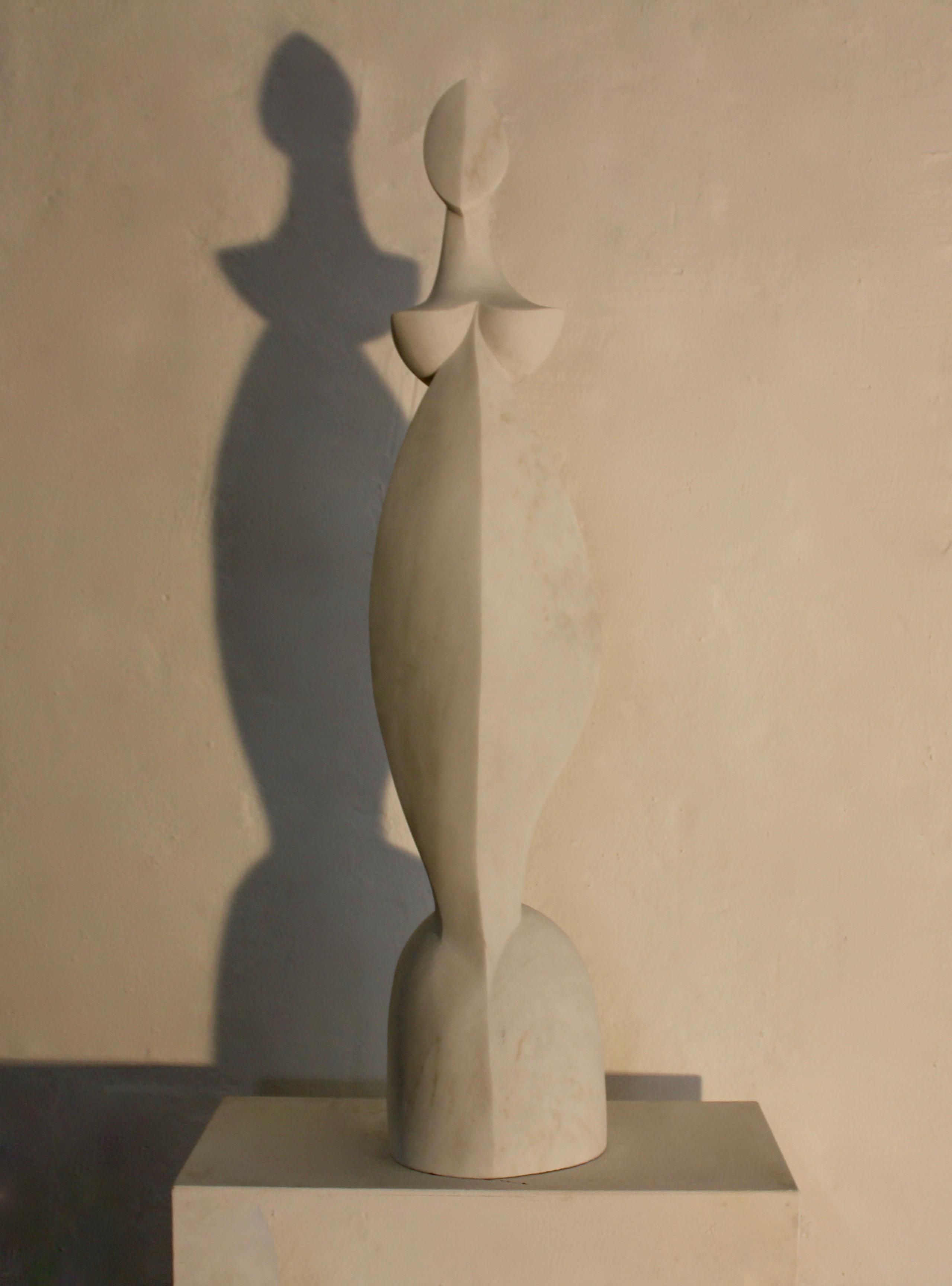 marble sculpture, woman figure, Carrara white marble