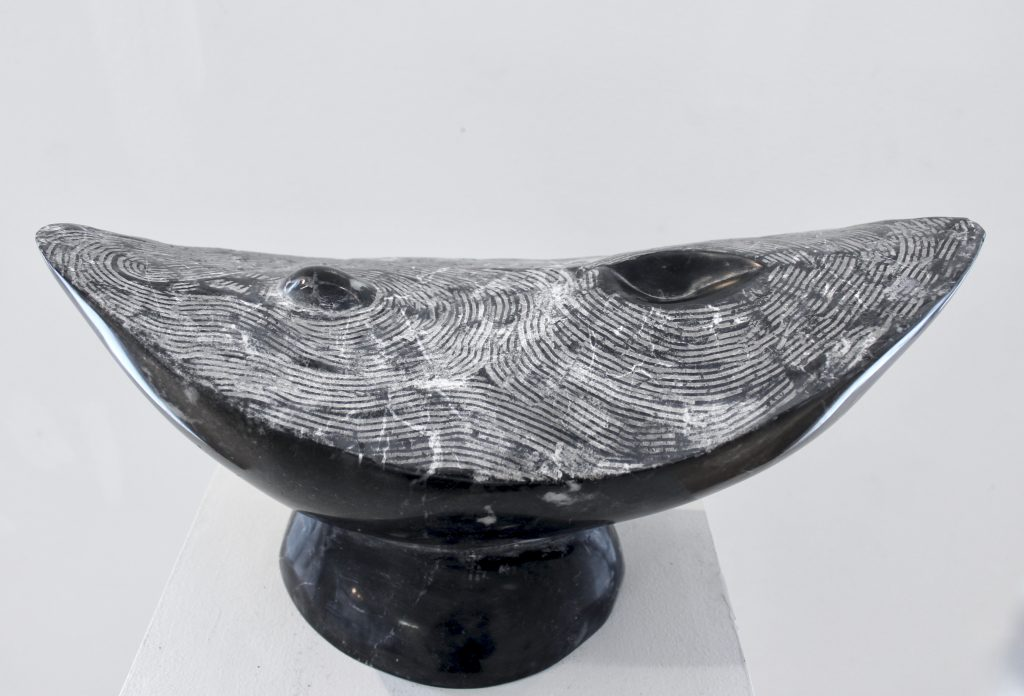 Marble sculpture, black marble, sculpture