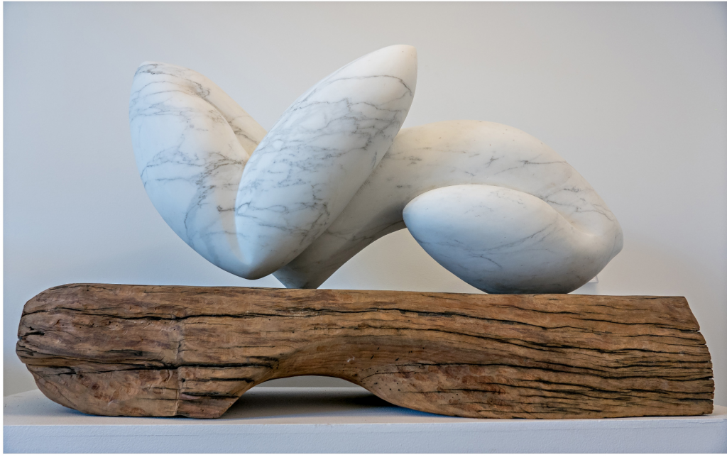 Sculpture White Carrara Marble