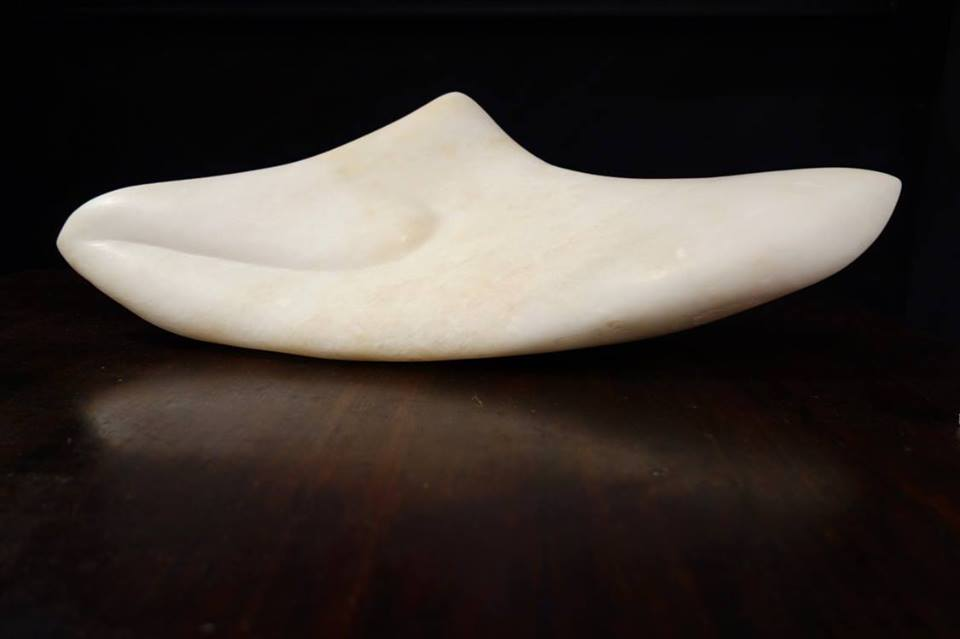 Sculpture Italian Sea Shell Allabaster