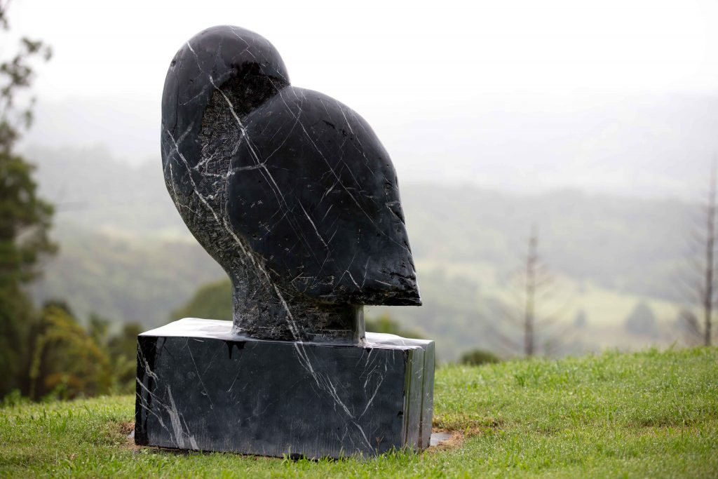 Large Marble Sculpture Spanish Black Marble