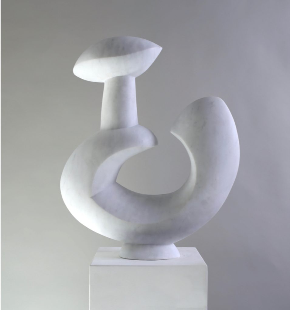 large marble sculpture, hand carving, marble sculpture, contemporary sculpture