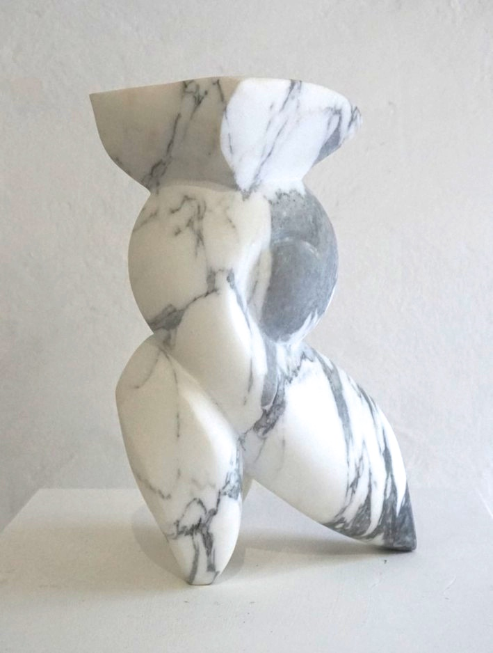 Small Sculpture White Carrara Marble